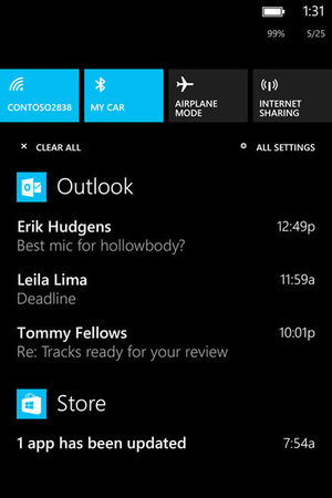 Windows Phone 8.1: The Action Center