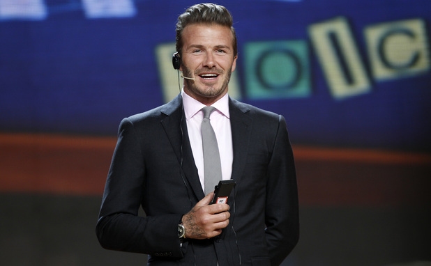 David Beckham appears on The Voice in China