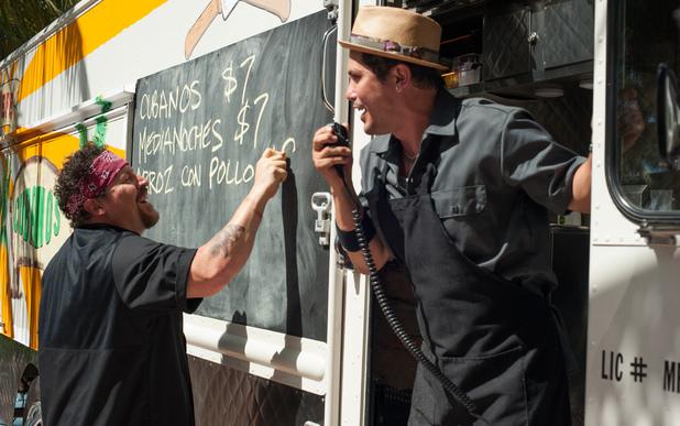 Jon Favreau, John Leguizamo in Chef