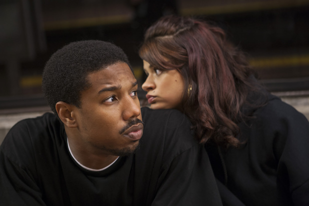 Melonie Diaz and Michael B. Jordan in Fruitvale Station (2013)
