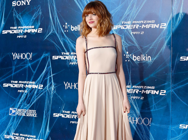 NEW YORK, NY - APRIL 24: Actress Emma Stone attends 'The Amazing Spider-Man 2' premiere at the Ziegfeld Theater on April 24, 2014 in New York City. (Photo by Jemal Countess/Getty Images)