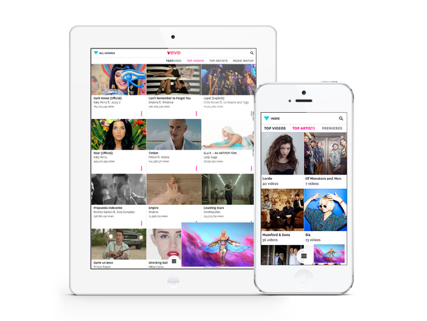 Vevo version 3.0 for iOS devices