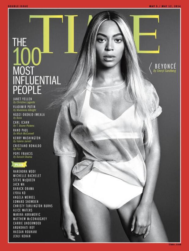 Beyoncé on the cover of TIME's 100 Most Influential People Issue