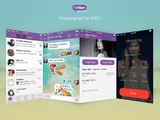 Viber's new look on iOS devices