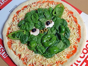 A Yoda themed pizza