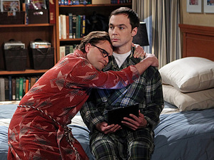 Johnny Galecki as Leonard & Jim Parsons as Sheldon in 'The Proton Transmogrification'