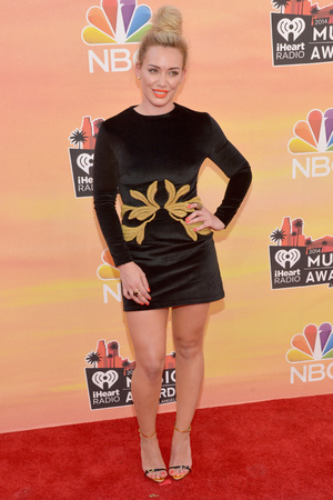 LOS ANGELES, CA - MAY 01: iHEARTRADIO MUSIC AWARDS -- Pictured: Hilary Duff arrives at the iHeartRadio Music Awards held at the Shrine Auditorium on May 1, 2014. (Photo by Michael Buckner/NBC/NBCU Photo Bank)