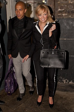 Caption:LONDON, UNITED KINGDOM - APRIL 27: Emma Bunton and Jade Jones are seen leaving the Arts Club, Mayfair on April 27, 2014 in London, England. (Photo by Niki Nikolova/GC Images)