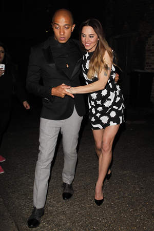 Victoria Beckham's 40th Birthday at the Arts Club, London, Britain - 27 Apr 2014 Jade Jones, Melanie Chisholm