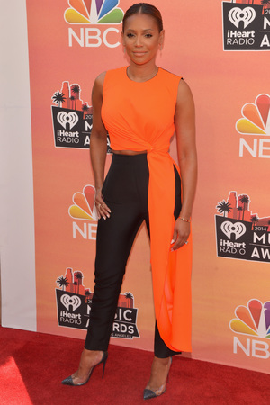 LOS ANGELES, CA - MAY 01: iHEARTRADIO MUSIC AWARDS -- Pictured: (l-r) Recording artist Mel B arrives at the iHeartRadio Music Awards held at the Shrine Auditorium on May 1, 2014. (Photo by Michael Buckner/NBC/NBCU Photo Bank)
