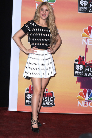 LOS ANGELES, CA - MAY 01: Shakira poses at the 2014 iHeartRadio Music Awards at The Shrine Auditorium on May 1, 2014 in Los Angeles, California. (Photo by Steve Granitz/WireImage)
