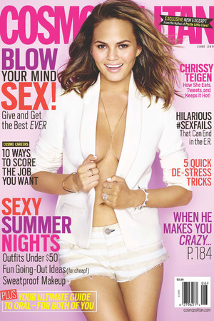 Chrissy Teigen in the June 2014 cover of Cosmopolitan