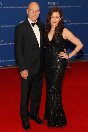 100th Annual White House Correspondents' Association Dinner: Sunny Ozell and Patrick Stewart