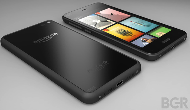 Render image of Amazon's 3D-capable smartphone