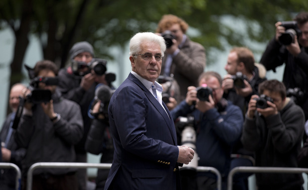 Max Clifford outside Southwark Crown Court