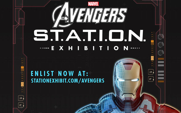 Avengers Station exhibit logo