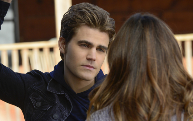 Paul Wesley as Stefan and Nina Dobrev as Elena in The Vampire Diaries S05E20: 'What Lies Beneath'