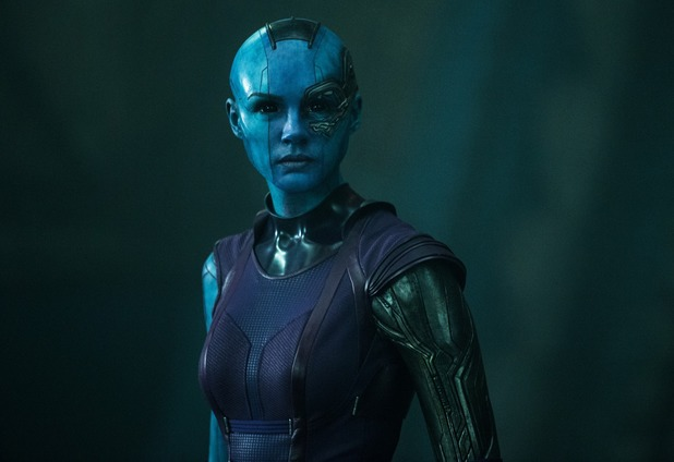 Karen Gillan as Nebula in Guardians of the Galaxy