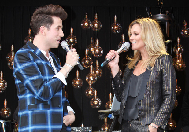 Kate Moss and Nick Grimshaw at the VIP preview of the Kate Moss For TopShop collection