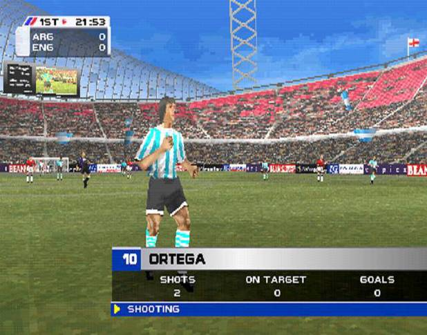 Screenshot from footballing classic Actua Soccer 3