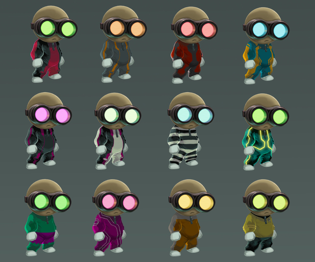 Stealth Inc 2 costumes