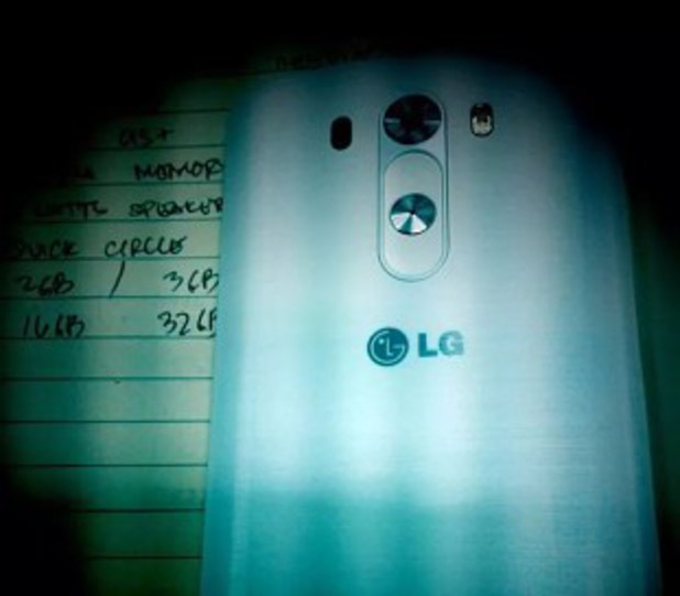 Leaked image of the LG G3 smartphone