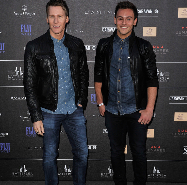 Dustin Lance Black and Tom Daley at the Battersea Power Station Annual Party