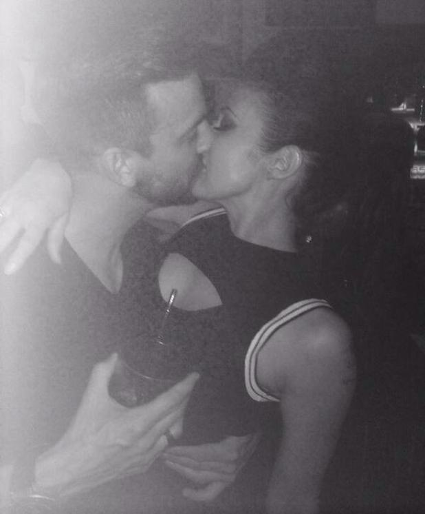 Dan Hooper kissing Kym Marsh
