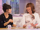 Loose Women panellist sports a jumper with the singer's face on it.
