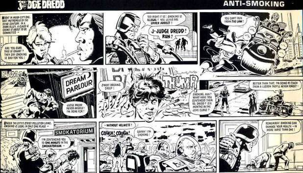 Judge Dredd Daily Star newspaper strip