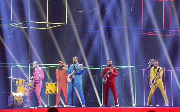 Pollapoenk representing Iceland perform during the Eurovision Song Contest 2014 Grand Final