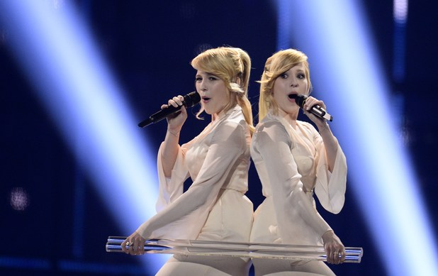Tolmachevy Sisters representing Russia perform during the Eurovision Song Contest 2014 Grand Final