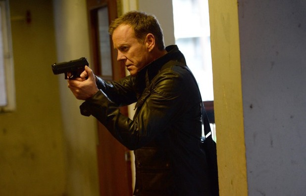 Kiefer Sutherland as Jack Bauer in 24: Live Another Day: 12:00PM - 1:00PM