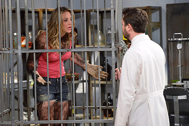Kaley Cuoco-Sweeting and Wil Wheaton in The Big Bang Theory: 'The Gorilla Dissolution'