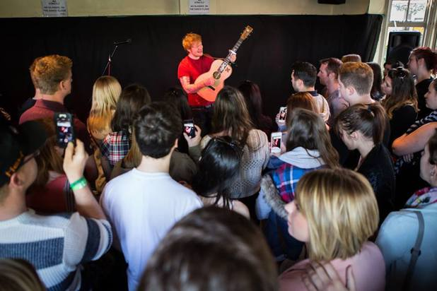 Ed Sheeran at Steamboat Tavern Ipswich gig