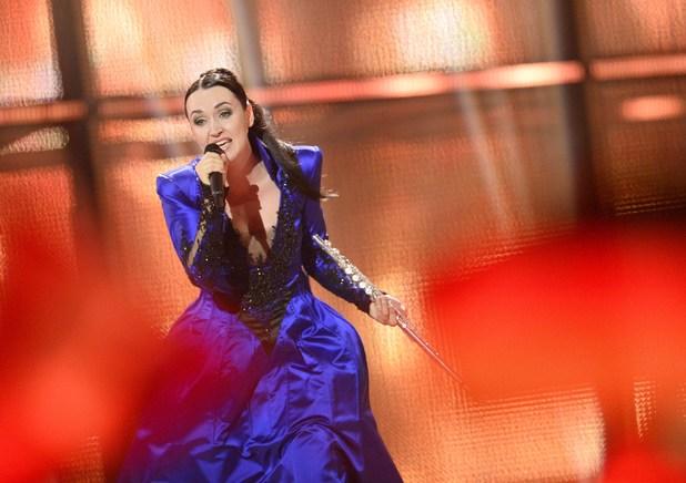 Tinkara Kovac representing Slovenia performs