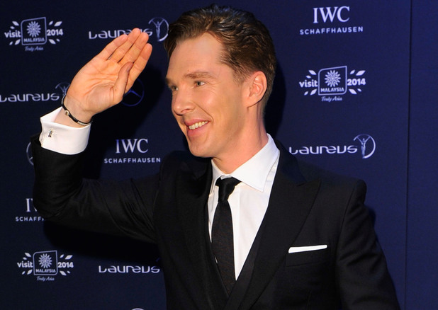 KUALA LUMPUR, MALAYSIA - MARCH 26: Host and actor Benedict Cumberbatch attends the 2014 Laureus World Sports Awards at the Istana Budaya Theatre on March 26, 2014 in Kuala Lumpur, Malaysia. (Photo by Gareth Cattermole/Getty Images for Laureus)