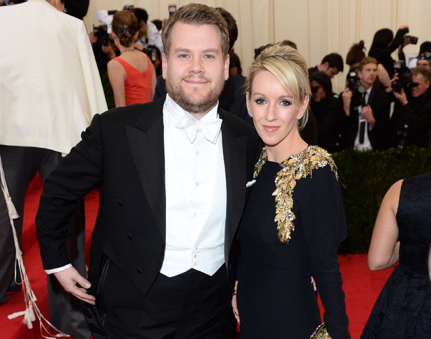 NEW YORK, NY - MAY 05: James Corden and Julia Carey attend the 'Charles James: Beyond Fashion' Costume Institute Gala held at the Metropolitan Museum of Art on May 5, 2014 in New York City. (Photo by Karwai Tang/FilmMagic)