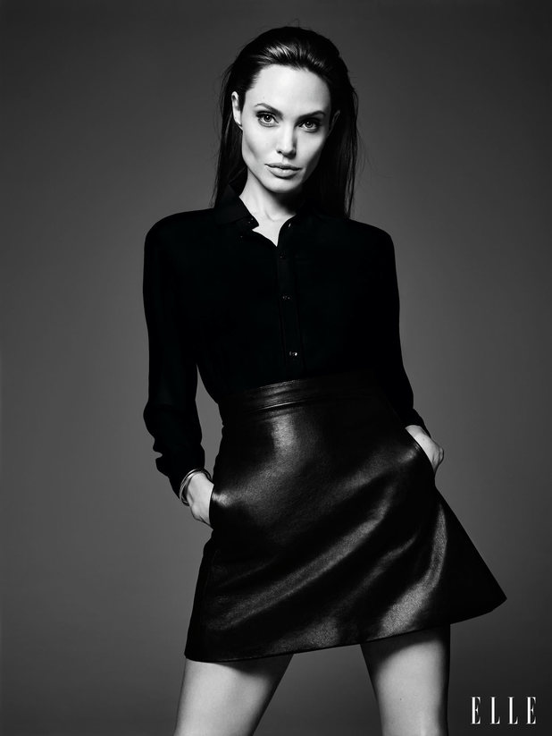 Angelina Jolie in the June issue of Elle