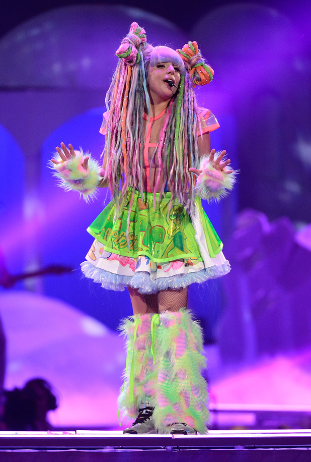SUNRISE, FL - MAY 04: Lady Gaga performs onstage during 'The ARTPOP Ball' tour opener at BB&T Center on May 4, 2014 in Sunrise, Florida. (Photo by Kevin Mazur/WireImage)