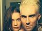 Adam Levine debuts new bleached hair