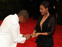 Rapper stages a pretend proposal at this year's event after Beyoncé drops her ring.