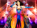 Footage shows Katy Perry performing in newly launched tour for album Prism.
