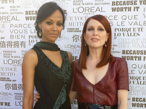 Cannes 2014: Julianne Moore and Zoe Saldana attend the 'Mr Turner' premiere