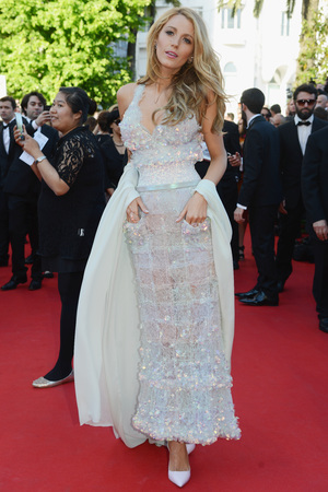 CANNES, FRANCE - MAY 15: Actress Blake Lively attends the 'Mr Turner' premiere during the 67th Annual Cannes Film Festival on May 15, 2014 in Cannes, France. (Photo by Traverso/L'Oreal/Getty Images)