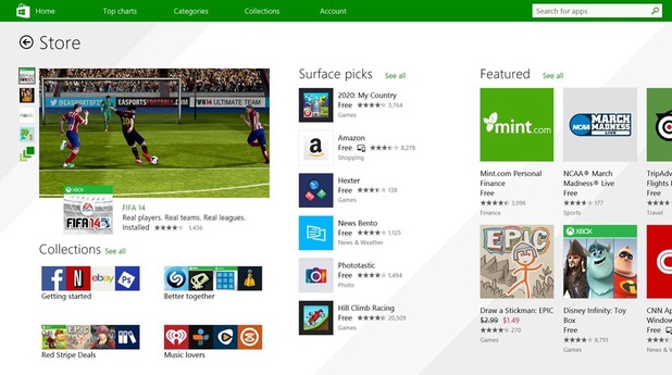 Microsoft's new-look Windows Store