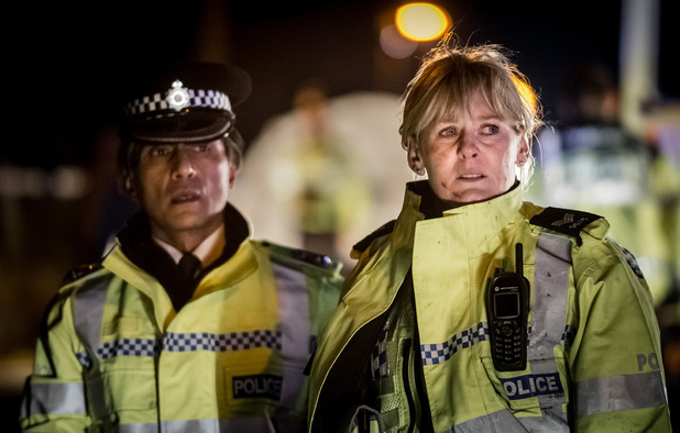Ramon Tikaram as Praveen & Sarah Lancashire as Catherine in Happy Valley