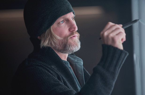 Woody Harrelson as Haymitch Abernathy in The Hunger Games: Mockingjay Part 1