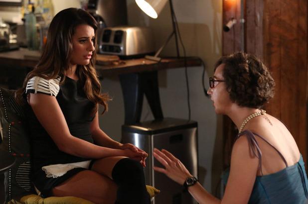 Lea Michele as Rachel & Kristen Schaal in Glee S05E20: 'The Untitled Rachel Berry Project'