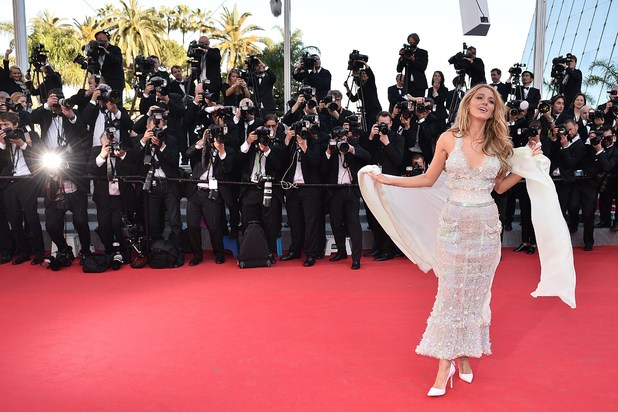 US actress Blake Lively poses as she arrives for the screening of the film 'Mr. Turner' at the 67th edition of the Cannes Film Festival in Cannes, southern France, on May 15, 2014. AFP PHOTO / BERTRAND LANGLOIS (Photo credit should read BERTRAND LANGLOIS/AFP/Getty Images)